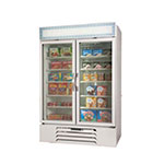"Beverage Air MMF44-1-W-LED 47"" Two-Section Refrigerated Display w/ Swing Doors, Bottom Mount Compressor, 115v"