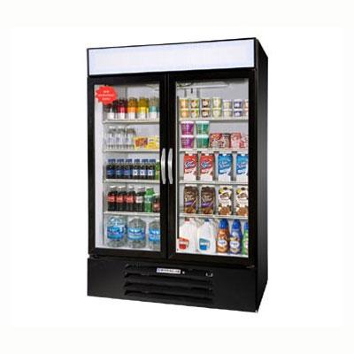 "Beverage Air MMF49-1-B-LED 52"" Two Section Display Freezer w/ Swinging Doors, Bottom Mount Compressor, 115v"