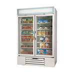 "Beverage Air MMF49-1-W-LED 52"" Two-Section Display Freezer w/ Swinging Doors - Bottom Mount Compressor, 115v"