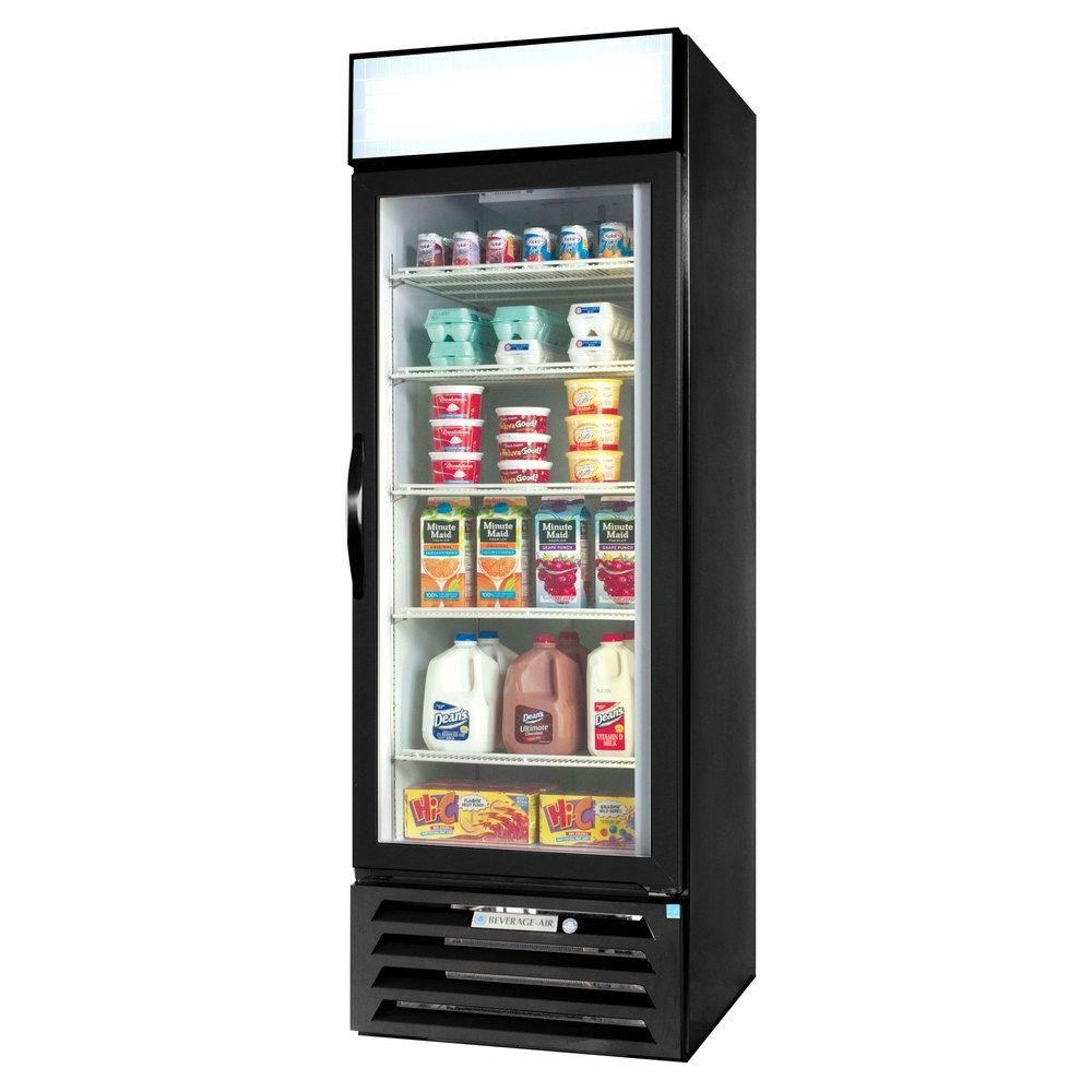 """Beverage Air MMR23HC-1-B 27.25"""" One-Section Glass Door Merchandiser w/ Swing Door, 115v"""