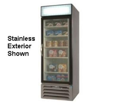 "Beverage Air MMR27-1-B-LED 30"" One-Section Refrigerated Display w/ Swing Door, Bottom Mount Compressor, 115v"