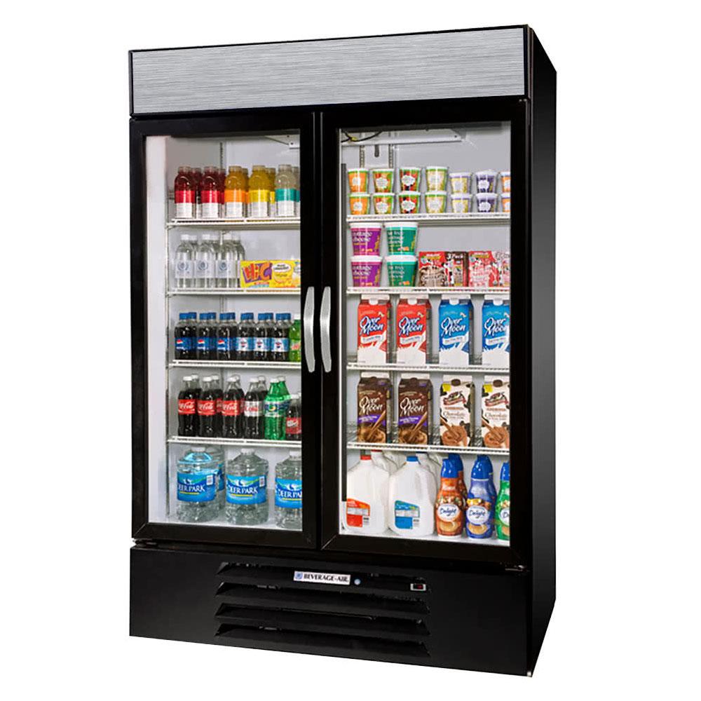 Beverage-Air MMR44HC-1-B 47 Two-Section Glass Door Mercha...