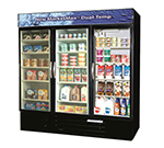 "Beverage Air MMRF72-1-B-LED 75"" Three-Section Glass Door Merchandiser w/ Swing Doors, 115v"