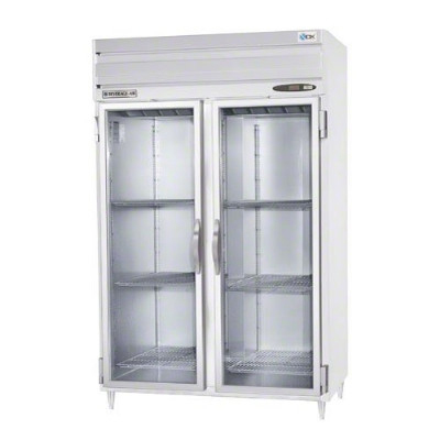 "Beverage Air PRD2-1BG 52"" Two Section Pass-Thru Refrigerator, (4) Glass Door, 115v"