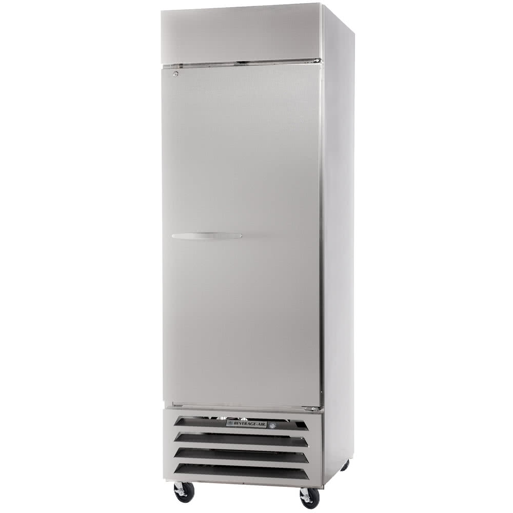 "Beverage Air RB27HC-1S 30"" Two-Section Reach-In Refrigerator, (2) Solid Doors, 115v"