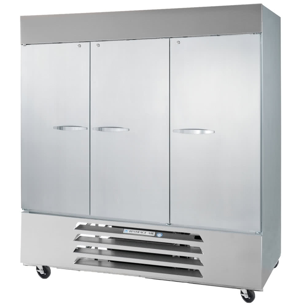 """Beverage Air RB72HC-1S 75"""" Three-Section Reach-In Refrigerator, (3) Solid Doors, 115v"""