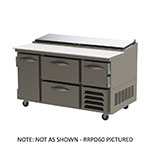 "Beverage Air RRP60 60"" Pizza Prep Table w/ Refrigerated Base, 115v"