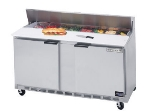 Beverage Air SPE60-16C 60-in Sandwich Top Refrigerated Counter w/ 16-Pan & Cutting Board