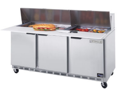 "Beverage Air SPE72-18C 72"" Sandwich/Salad Prep Table w/ Refrigerated Base, 115v"
