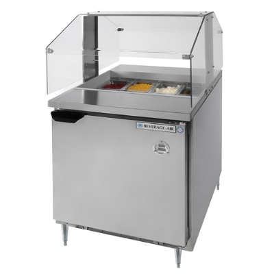 "Beverage Air SPE27SNZ 27"" Sandwich/Salad Prep Table w/ Refrigerated Base, 115v"