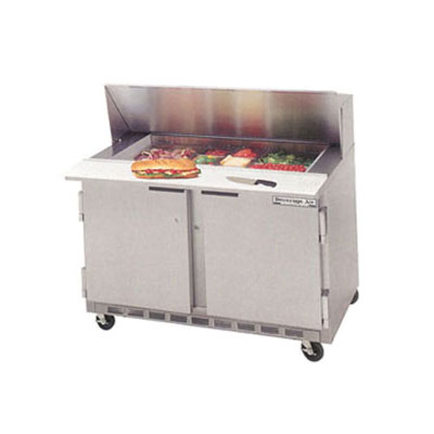 "Beverage Air SPE48-08 48"" Sandwich/Salad Prep Table w/ Refrigerated Base, 115v"