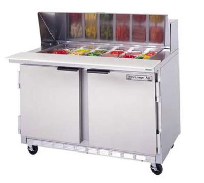 "Beverage Air SPE48-12 48"" Sandwich/Salad Prep Table w/ Refrigerated Base, 115v"