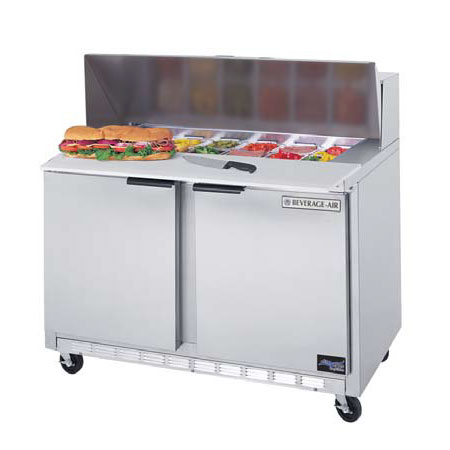 "Beverage Air SPE48-12C 48"" Sandwich/Salad Prep Table w/ Refrigerated Base, 115v"