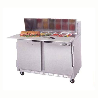 "Beverage Air SPE48-12M 48"" Sandwich/Salad Prep Table w/ Refrigerated Base, 115v"