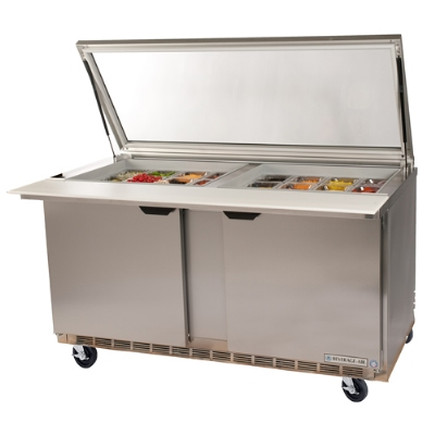"Beverage Air SPE4818MSTL 48"" Sandwich/Salad Prep Table w/ Refrigerated Base, 115v"