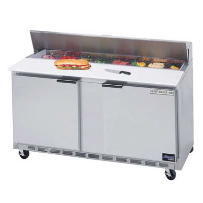 "Beverage Air SPE60-12 60"" Sandwich/Salad Prep Table w/ Refrigerated Base, 115v"