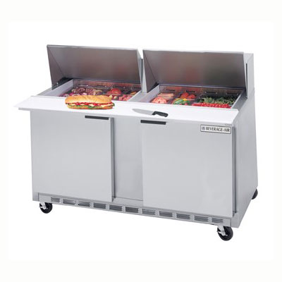 "Beverage Air SPE60-12M 60"" Sandwich/Salad Prep Table w/ Refrigerated Base, 115v"