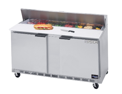 "Beverage Air SPE60-16-27 60"" Sandwich/Salad Prep Table w/ Refrigerated Base, 115v"