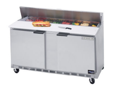 "Beverage Air SPE60-16 60"" Sandwich/Salad Prep Table w/ Refrigerated Base, 115v"