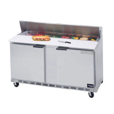 "Beverage Air SPE60-16C 60"" Sandwich/Salad Prep Table w/ Refrigerated Base, 115v"