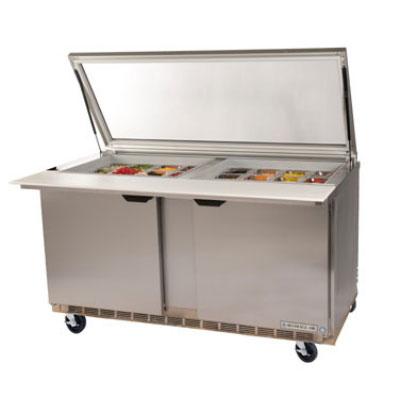 "Beverage Air SPE60-24M-STL 60"" Sandwich/Salad Prep Table w/ Refrigerated Base, 115v"