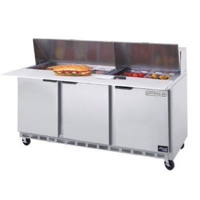"Beverage Air SPE72-18C 72"" Sandwich/Salad Prep Table w/ Refrigerated Base, 115v"