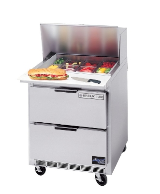 "Beverage Air SPED27-12M-B 27"" Sandwich/Salad Prep Table w/ Refrigerated Base, 115v"