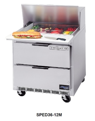 "Beverage Air SPED36-12M 36"" Sandwich/Salad Prep Table w/ Refrigerated Base, 115v"