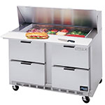 "Beverage Air SPED48-18M-4 48"" Sandwich/Salad Prep Table w/ Refrigerated Base, 115v"