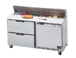 Beverage Air SPED60-16-2 60-in Refrigerated Sandwich Top w/ 2-Section & 2-Drawer, 17.1-cu ft