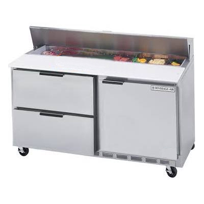 "Beverage Air SPED60-16-4 60"" Sandwich/Salad Prep Table w/ Refrigerated Base, 115v"