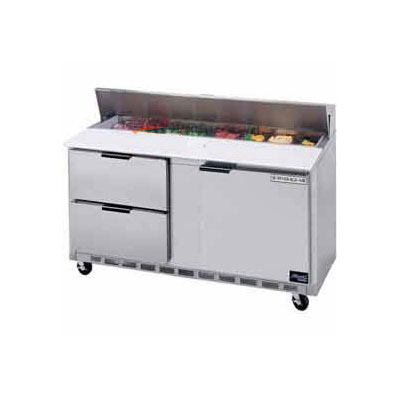 "Beverage Air SPED60-16C-2 60"" Sandwich/Salad Prep Table w/ Refrigerated Base, 115v"