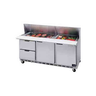 "Beverage Air SPED72-12-2 72"" Sandwich/Salad Prep Table w/ Refrigerated Base, 115v"
