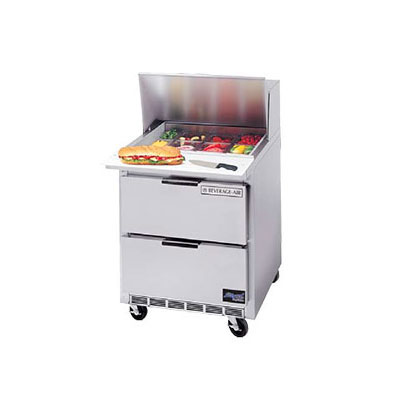 "Beverage Air SPEDP27-12M-B 27"" Sandwich/Salad Prep Table w/ Refrigerated Base, 115v"