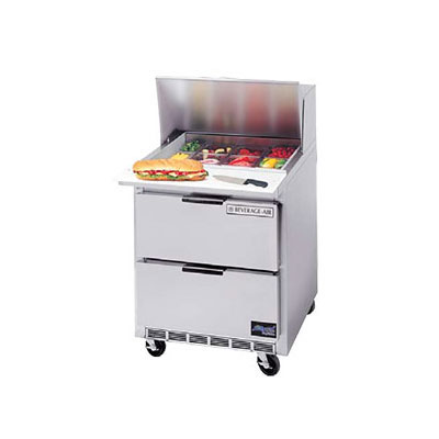 """Beverage Air SPEDP27-A 27"""" Sandwich/Salad Prep Table w/ Refrigerated Base, 115v"""
