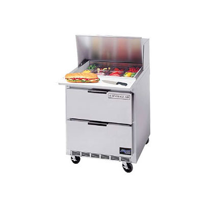 "Beverage Air SPEDP27C-B 27"" Sandwich/Salad Prep Table w/ Refrigerated Base, 115v"