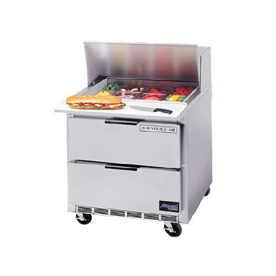 "Beverage Air SPEDP36-08C 36"" Sandwich/Salad Prep Table w/ Refrigerated Base, 115v"