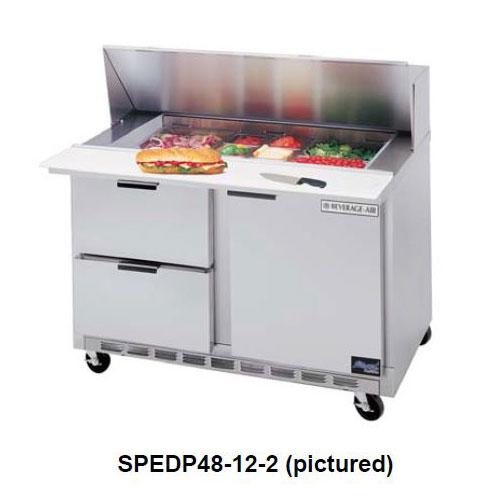 "Beverage Air SPEDP48-08C-4 48"" Sandwich/Salad Prep Table w/ Refrigerated Base, 115v"