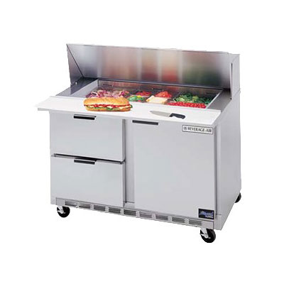 "Beverage Air SPEDP48-12-2 48"" Sandwich/Salad Prep Table w/ Refrigerated Base, 115v"