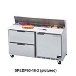"Beverage Air SPEDP60-10C-2 60"" Sandwich/Salad Prep Table w/ Refrigerated Base, 115v"