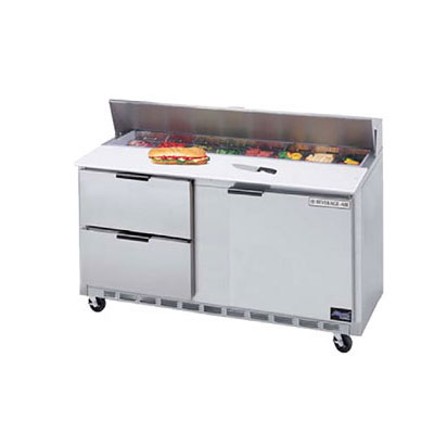 "Beverage Air SPEDP60-16C-2 60"" Sandwich/Salad Prep Table w/ Refrigerated Base, 115v"