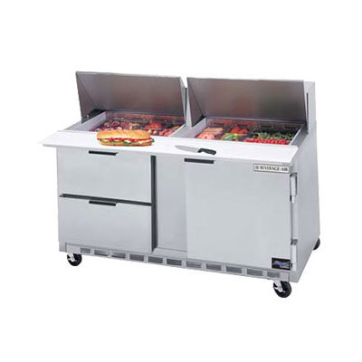 "Beverage Air SPEDP60-24M-2 60"" Sandwich/Salad Prep Table w/ Refrigerated Base, 115v"