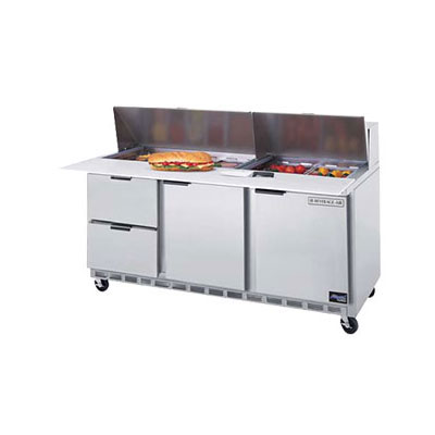 "Beverage Air SPEDP72-18C-2 72"" Sandwich/Salad Prep Table w/ Refrigerated Base, 115v"