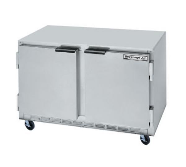 Beverage Air UCF48A 13.9-cu ft Undercounter Freezer w/ (2) Sections & (2) Doors, 115v