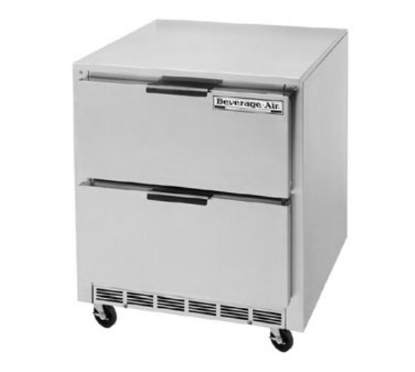 Beverage Air UCRD27A-2 7.3-cu ft Undercounter Refrigerator w/ (1) Section & (2) Drawers, 115v