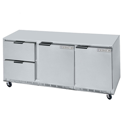 Beverage Air UCRD72A2 21.5-cu ft Undercounter Refrigerator w/ (3) Sections, (2) Drawers & (2) Doors, 115v