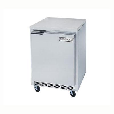 Beverage Air WTR20Y 2.7-cu ft Worktop Refrigerator w/ (1) Sections & (1) Door, 115v