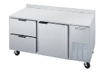 "Beverage Air WTRD60A2 60"" Work Top Refrigerator w/ (2) Sections & (2) Drawers, 115v"