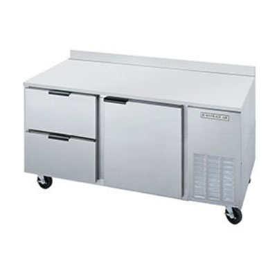 """Beverage Air WTRD60A2 60"""" Work Top Refrigerator w/ (2) Sections & (2) Drawers, 115v"""
