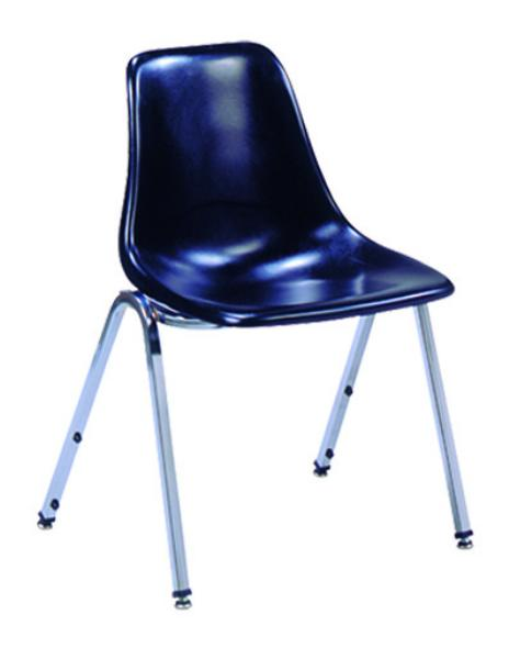 Vitro 1155 Stacker Series Chair, Fiberglass Shell Seat, Metal Frame
